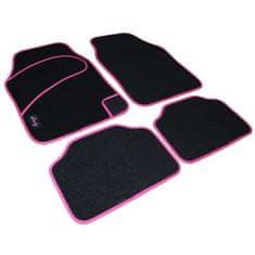Tech+ avtomobilska preproga Lady, tekstil, UNI 2, črna/roza