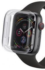 Coteetci COTEetCI celoplošné ochranné pouzdro pro Apple Watch 4 / 5 40 mm CS7059-TT, transparentní