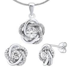 Silvego Strieborný set šperkov so zirkónmi Rosalyn JJJS0088 (náušnice, prívesok) striebro 925/1000