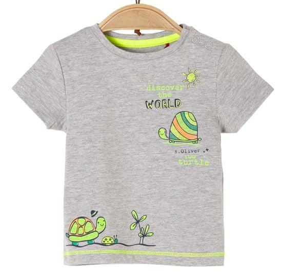 s.Oliver detské tričko, 50/56, sivá