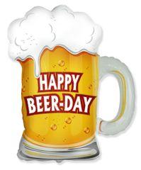 Fóliový balónik pivo - Happy Beer day - 69 cm