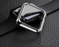 Coteetci COTEetCI polykarbonátové pouzdro pro Apple Watch 42 mm CS7046-TS, stříbrné
