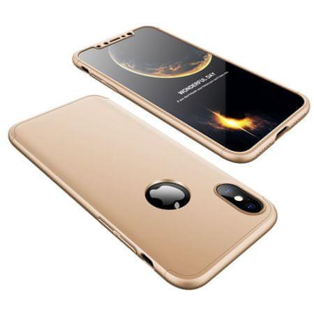 GKK 360 Full Body műanyag tok iPhone X/XS, arany