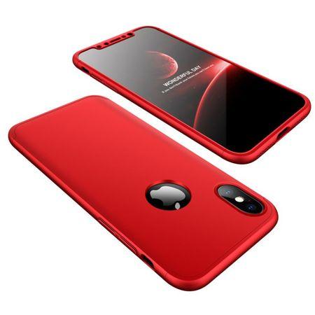 GKK 360 Full Body plastika ovitek za iPhone X/XS, rdeča