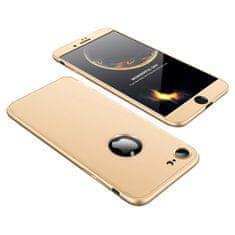 GKK 360 Full Body plastové pouzdro na iPhone 7/8, navy zlaté