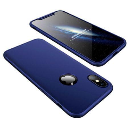 GKK 360 Full Body műanyag tok iPhone X/XS, navy kék