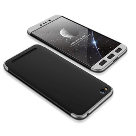 GKK 360 Full Body műanyag tok Xiaomi Redmi 5A, fekete/ezüst