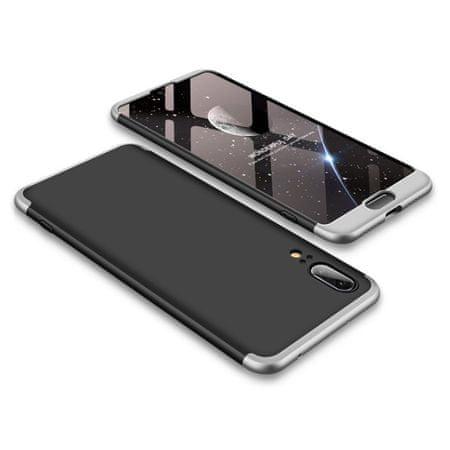 GKK 360 Full Body műanyag tok Huawei P20, fekete/ezüst