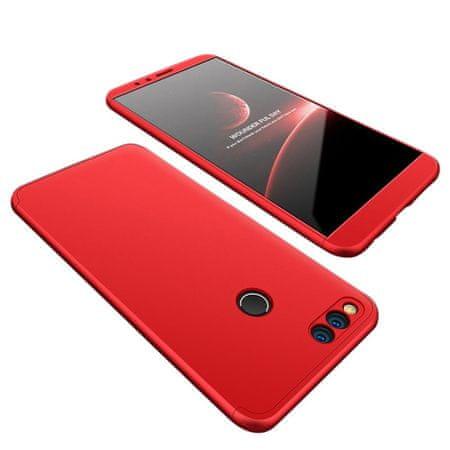 GKK 360 Full Body plastika ovitek za Huawei Honor 7X, rdeča
