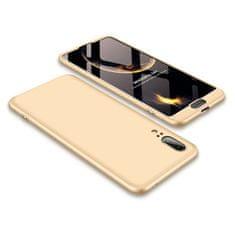 GKK 360 Full Body plastové pouzdro na Huawei P20, zlaté