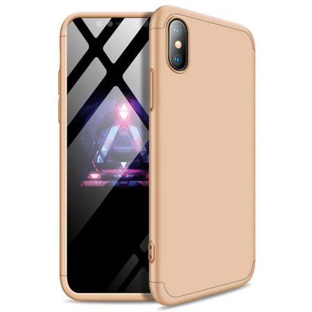 GKK 360 Full Body műanyag tok iPhone XS Max, arany
