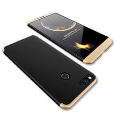 GKK 360 Full Body műanyag tok Huawei Honor 7X, fekete/arany