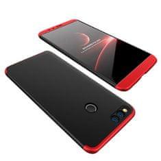 GKK 360 Full Body plastové pouzdro na Huawei Honor 7X, černé/červené