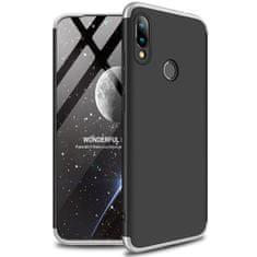 GKK 360 Full Body műanyag tok Xiaomi Redmi 7, fekete/ezüst