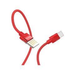 Hoco vysokorychlostní nabíjecí / datový kabel USB-C 1,2m červená