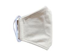 2x Rouška dětská, vel. 7-11 LET, 2 vrstvá, kapsička na filtr, béžová