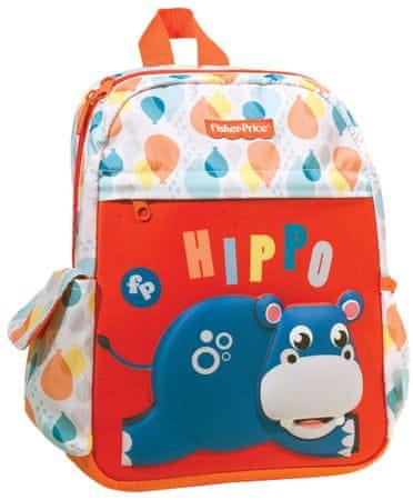 GIM otroški nahrbtnik Junior Fisher Price Hippo, motiv povodnega konja