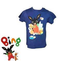SETINO Chlapčenské tričko s krátkym rukávom Zajačik Bing - tmavo modrá
