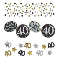 Amscan Konfety na párty oslava 40. narozenin