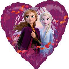 Amscan Fóliový balónek Frozen 2 srdce