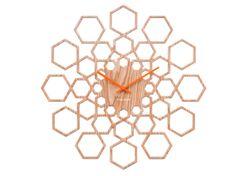 Karlsson Nástěnné hodiny Sunshine Hexagon 48 cm Karlsson *