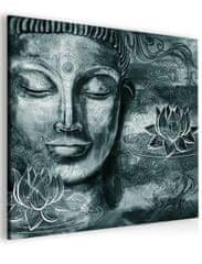 InSmile Abstraktní obraz šedý Buddha Velikost (šířka x výška): 40x40 cm