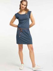 Ragwear tmavě modré vzorované šaty Tag Zig Zag