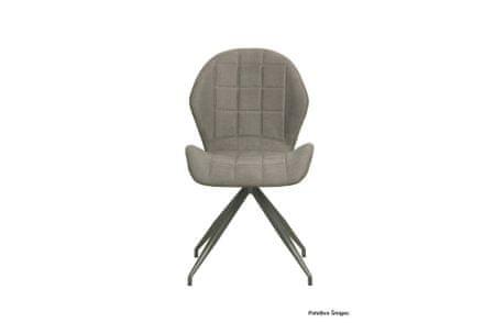 Jedilniški stol Gert, 2 kosa, siv
