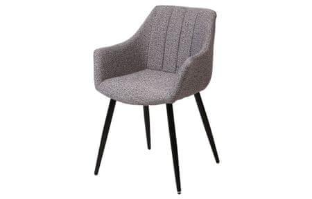 Jedilniški stol Sven, 2 kosa, siv