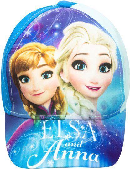 EUROSWAN Dětská kšiltovka Frozen Ledové království Sisters modrá Velikost: 52