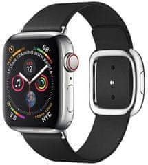 Coteetci COTEetCI kožený magnetický řemínek Nobleman pro Apple Watch 42 / 44 mm WH5201-KK, černá