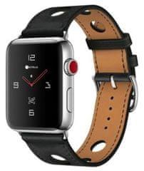 Coteetci COTEetCI kožený řemínek pro Apple Watch 38 / 40 mm WH5220-BK, černá