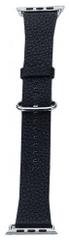 Coteetci COTEetCI kožený řemínek pro Apple Watch 42 / 44 mm WH5233-BK, černý