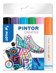 Pilot Dekorációs jelölőkészlet Pintor M, 6 szín fun, 1,4 mm