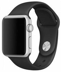 Coteetci COTEetCI silikonový sportovní náramek pro Apple watch 38 / 40 mm CS2085-BK, černý