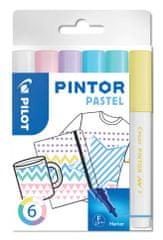 Pilot Dekorációs jelölőkészlet Pintor F, pasztell színek, 6 szín, 1 mm