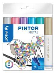 Pilot Dekorációs táblamarker Pintor M, metál, 6 szín, 1,4 mm