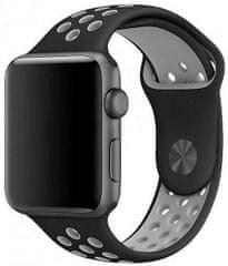 Coteetci COTEetCI sportovní děrovaný řemínek pro Apple Watch 42 / 44 mm WH5217-BK-GY, černý / šedý