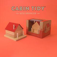 Luckies Stolní organizér ve tvaru chaty Cabin Tidy