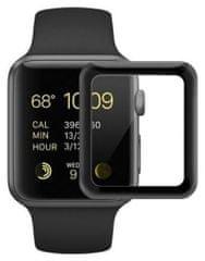 Coteetci COTEetCI 4D sklo s celoplošným lepením a černým lemem pro Apple Watch 42 mm CS2213-42
