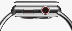 Coteetci COTEetCI 4D sklo s celoplošným lepením a černým lemem pro Apple Watch 44 mm CS2216-44