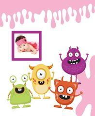 FANDY Fotoalbum samolepicí 24x29 cm 40 stran dětské Spookies 2 růžové
