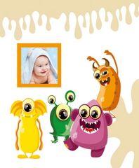 FANDY Fotoalbum samolepicí 24x29 cm 40 stran dětské Spookies 3 hnědé