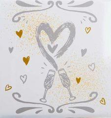 FANDY Fotoalbum samolepicí 27x32,5 cm 60 stran svatební Cheers 2 bílé