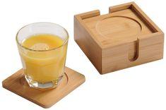 Kesper Tácky pod nápoje 6 ks, bambus
