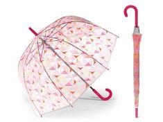 Esprit ESPRIT Triangle dámský holový průhledný deštník Barva: Růžová