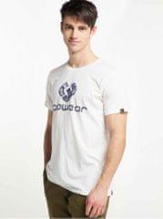 Ragwear bílé pánské tričko s potiskem Charles