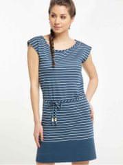 Ragwear modré pruhované šaty Soho Stripes