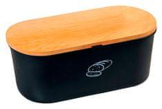 Kesper Úložný box na chlieb s doskou, čierny matný