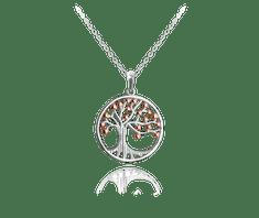 MINET Stříbrný náhrdelník MINET STROM ŽIVOTA